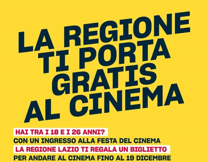 "Under 26 alla ""Festa del Cinema"" gratis nei Cinema di Roma e Lazio"