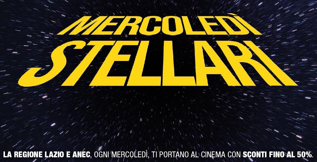 Mercoledì al Cinema: fino al 50% di sconto!