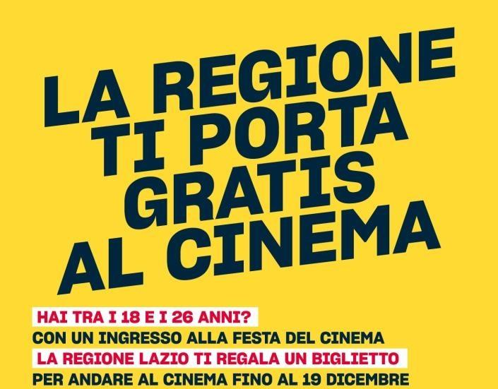 """Under 26 alla """"Festa del Cinema"""" gratis nei Cinema di Roma e Lazio"""