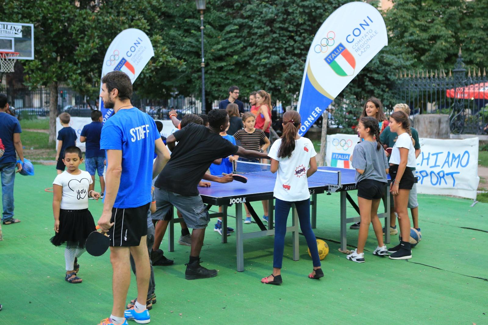 Venerdì 23 luglio inaugurazione del Villaggio dello Sport del CONI Lazio al CineVillage